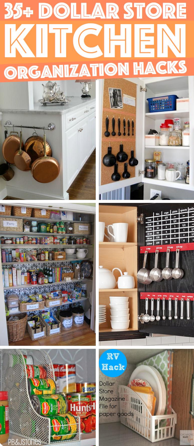 36 dollar store kitchen organization