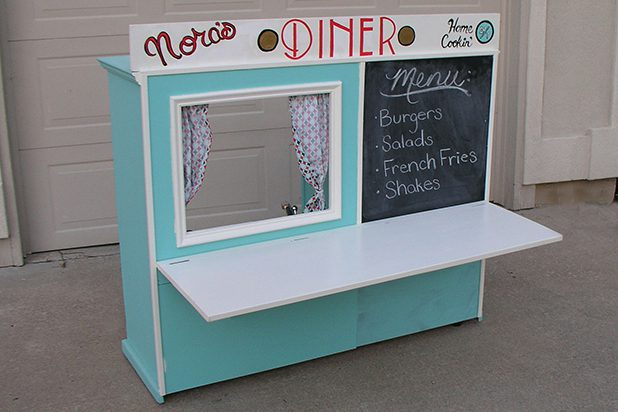 Old Cabinet into a Kid's Diner