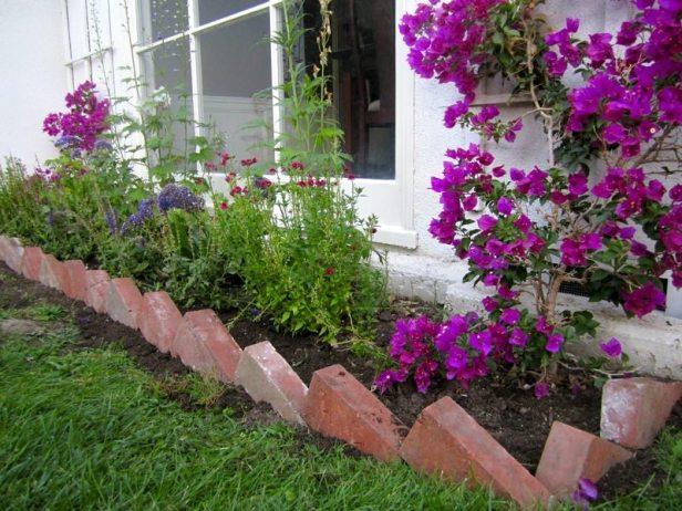 Recycled Brick Garden Edge