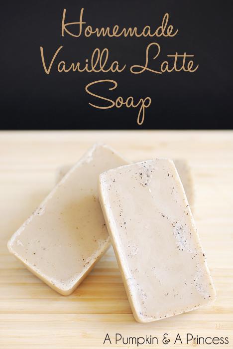 Homemade Vanilla Latte Soap Bars
