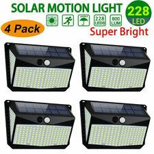 208 LED Waterproof Solar Power PIR Motion Sensor Wall Lights Outdoor Garden Lamp