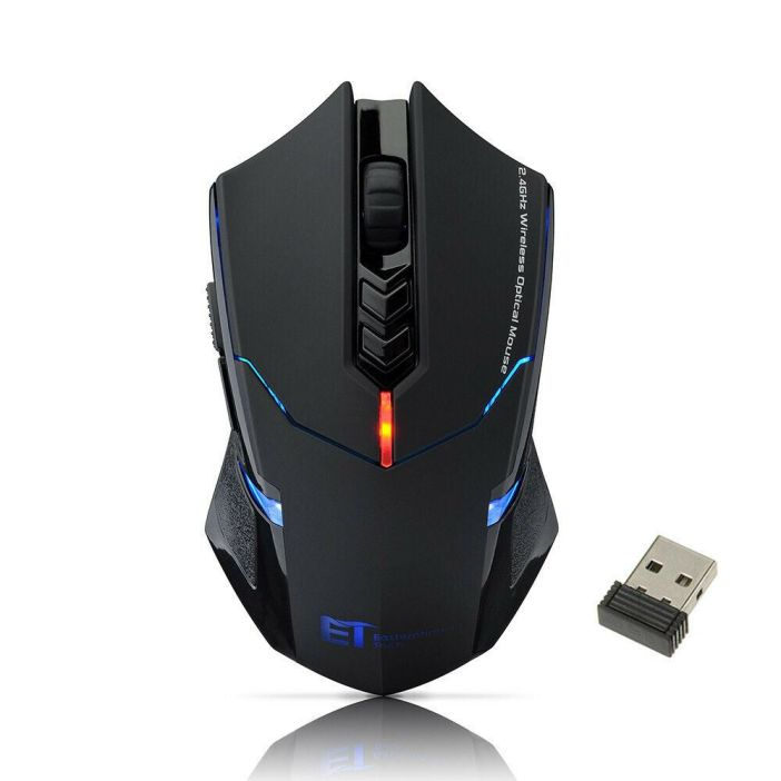 2400 DPI Computer 7 Button Wireless Gaming Mouse USB Optical Game Mice Pro Gamer