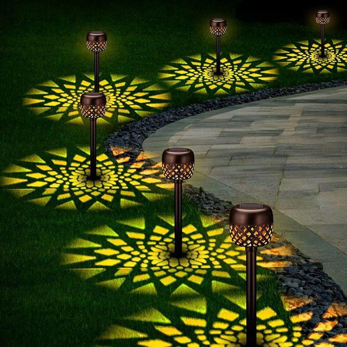 6 Pack Solar Pathway Lights Outdoor, Solar Garden Decorative Lights, Waterproof