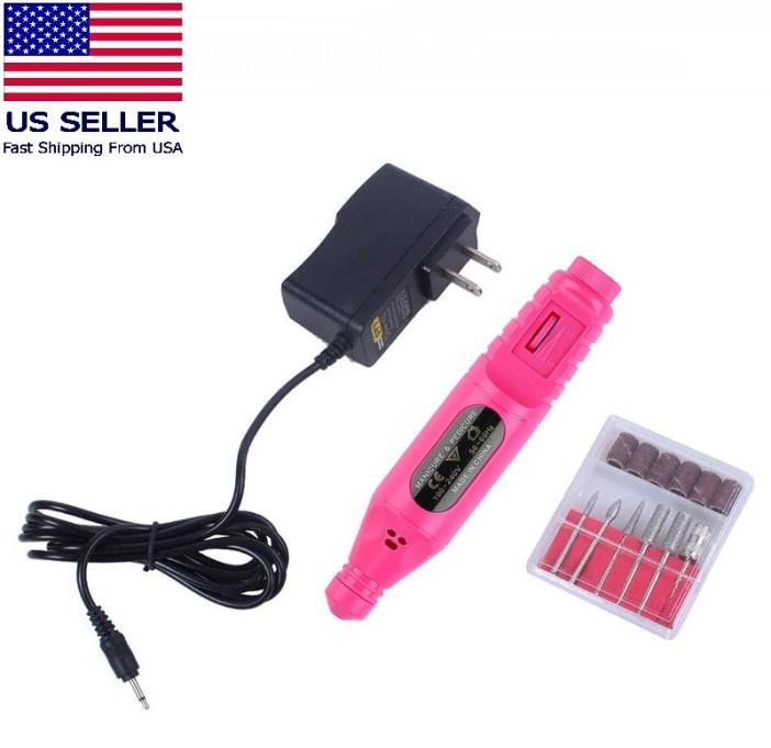 Electric Drill Nail File Acrylic Art File Manicure Pedicure Portable Machine Kit