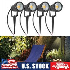 LED Landscape Spot Lights 4PCS Fence Outdoor Garden Lawn Waterproof Lamp US Plug