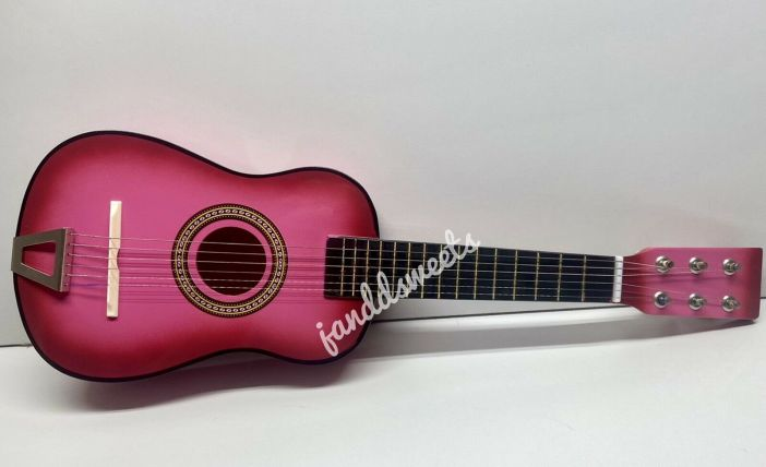 "23"" Mini Acoustic Guitar Wood Beginner Pratical Small Guitarra Kids USA Pink Toy"