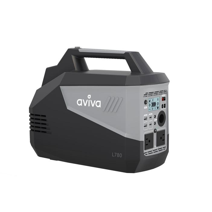 Aviva L780 Portable Power Station, 786 Wh Portable Lithium-Ion Battery, Supports 500 W Devices (2500 W Surge), Pure Sine