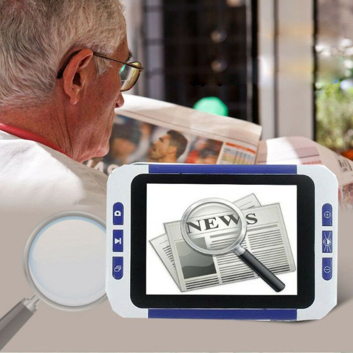 """Electronic Visual Aids 3.5"""" Digital 2-32X Magnifier Video Photo Reading Device"""