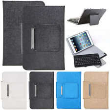 """Wireless Keyboard + 10"""" Leather Fold Stand Case Cover For Apple iPad 5th 2017"""