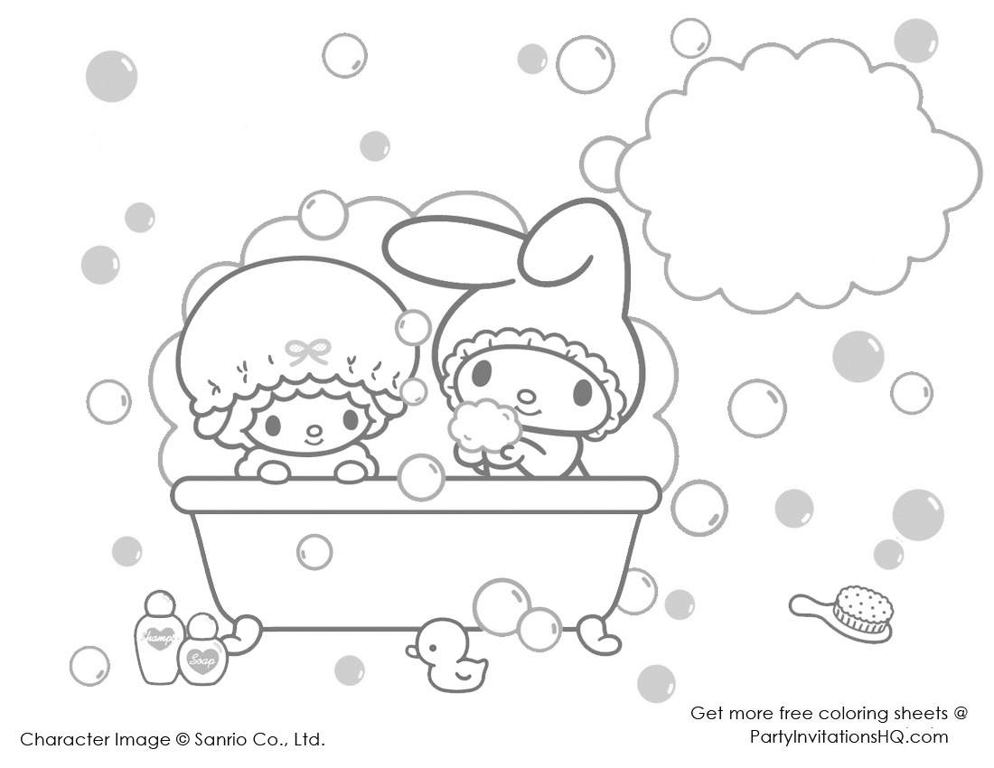 My Melody Colouring Sheets