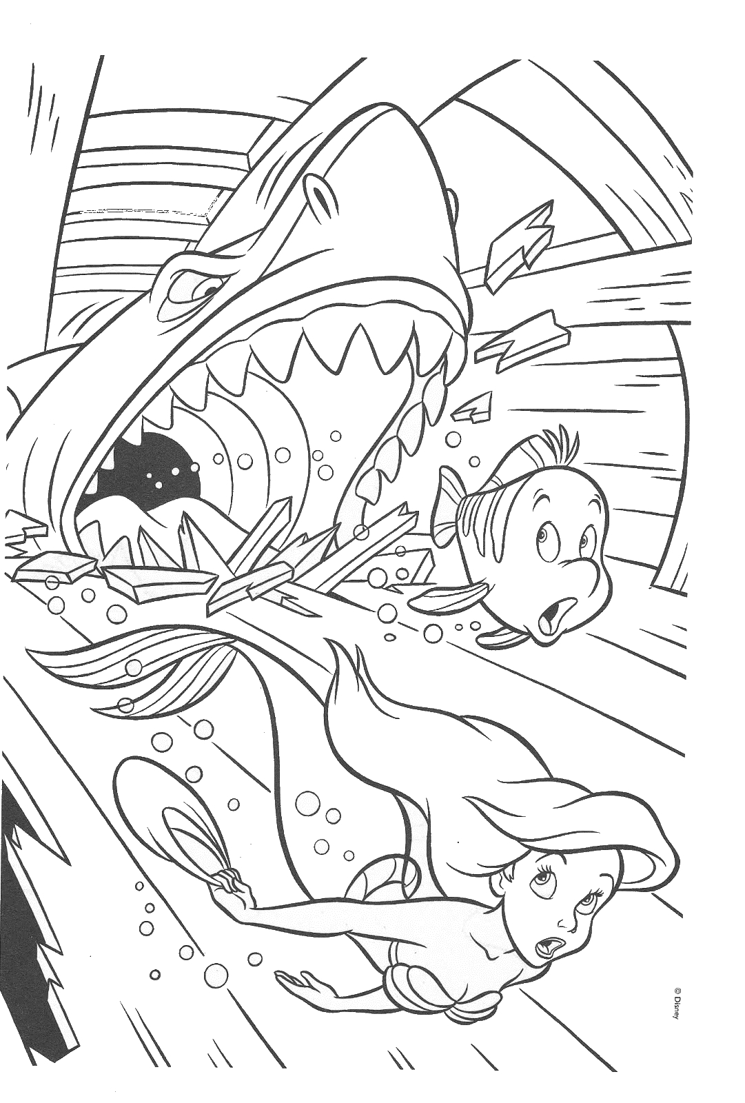 Little Mermaid Coloring Pages Max Eric Flute Coloring Pages