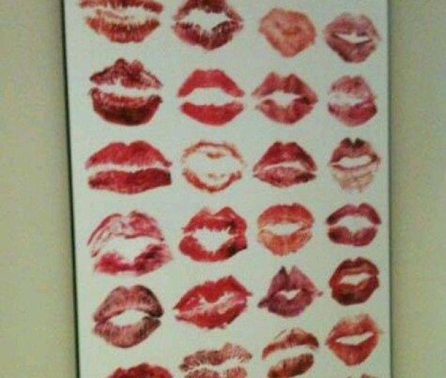 Personalized Lipstick Art Valentines Day Gift Ideas For Boyfriend