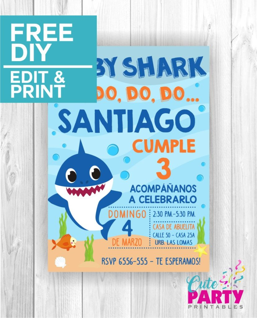 Baby Shark Invitations CPP