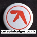Aphex Twin Badge Red