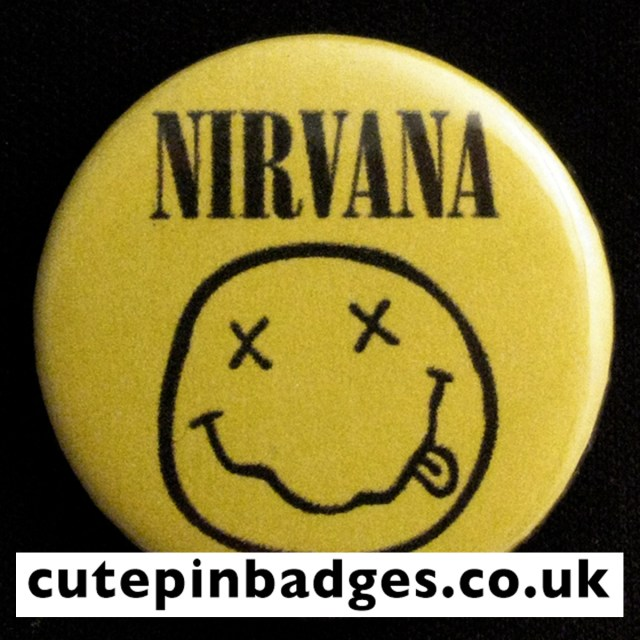 Nirvana Smiley Badge