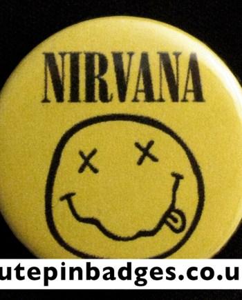 Nirvana Smiley Badge