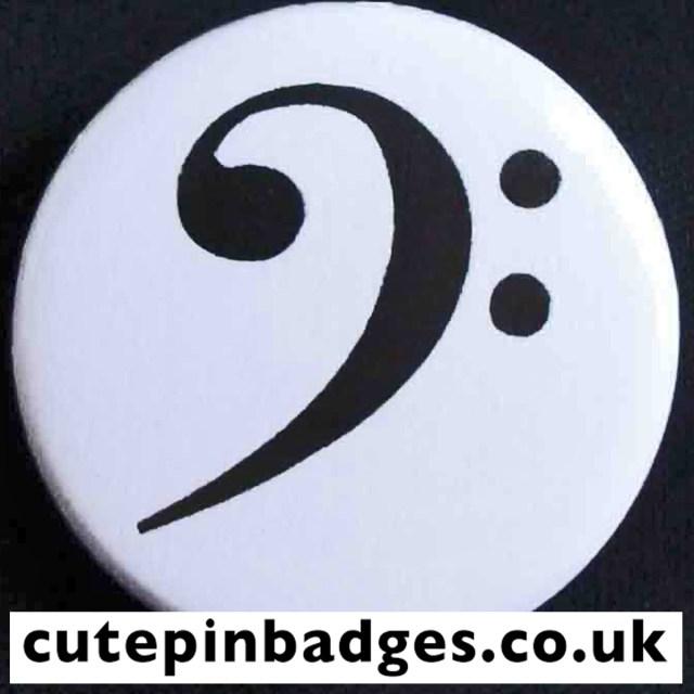 Bass Clef Badge