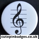 Treble Clef Badge