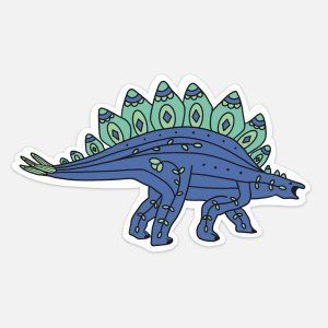 dinosaur sticker stegosauraus cute vsco