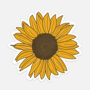 sunflower sticker cute flower aesthetic