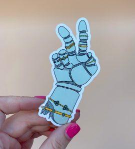 Aesthetic Robot Hand Sticker