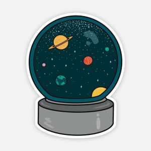 Aesthetic Space Sticker