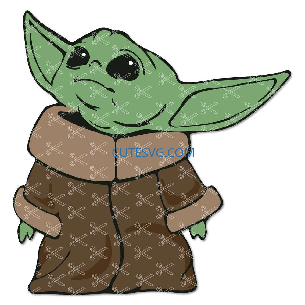Download Baby Yoda SVG, DXF, PNG, Cutting Files for Cricut Silhouette