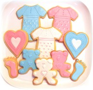 Baby Shower Cookies pink and blue