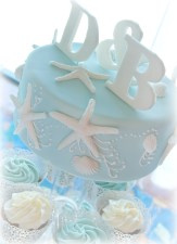 Sea Star Wedding Cake and Cupcake Tower