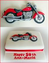Red Yamaha Motorcycle Cake