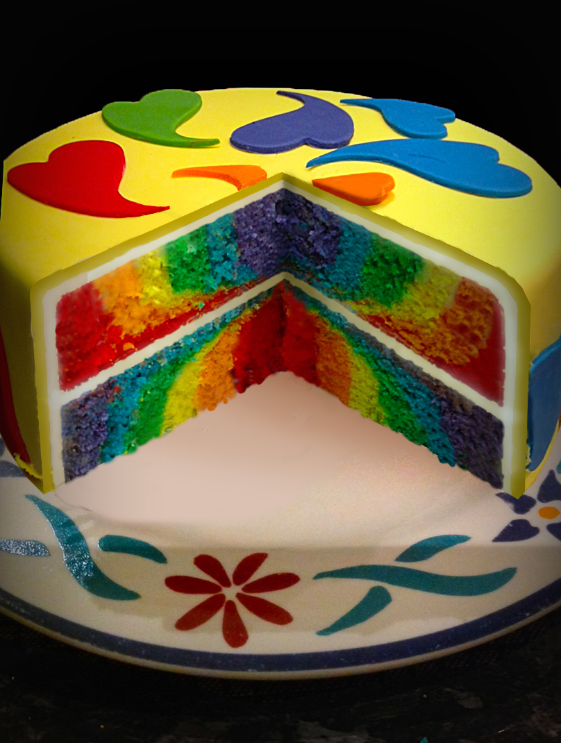 How To Make A Rainbow Layer Cake Using White Chocolate Mud