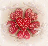 Red Heart cookie