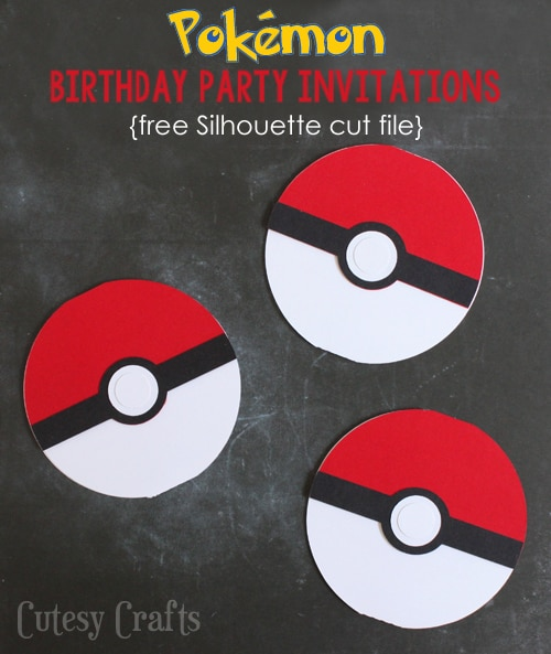 pokemon birthday party invitations