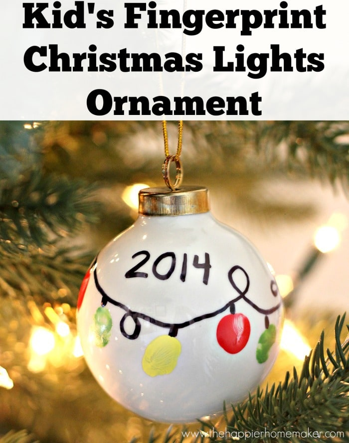 See how to grow a tropical tree, tap maple syrup, and more fun tree activities for kids. 15 Fingerprint and Handprint Christmas Ornaments - Cutesy