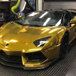 Golden Lamborghini Aventador Posted By Sarah Cunningham