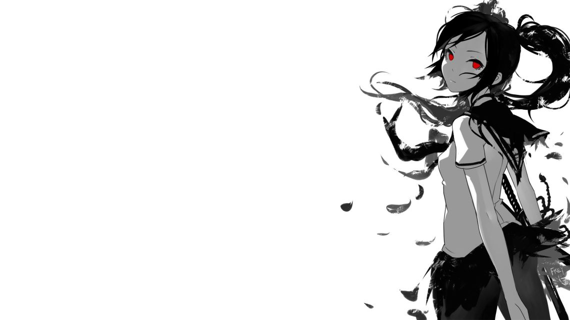 Anime Girl Black And White Wallpapers Posted By Michelle Peltier