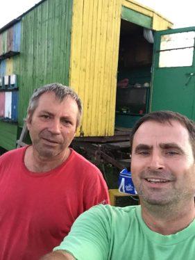 cu dl Toderen de la cutia cu miere pentru Cluj :)