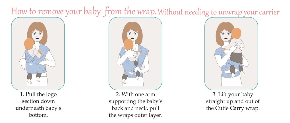 How to remove a baby from your baby carrier  – Cutie Carry