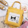 Multifunctionele Canvas Tas met Kattenprint