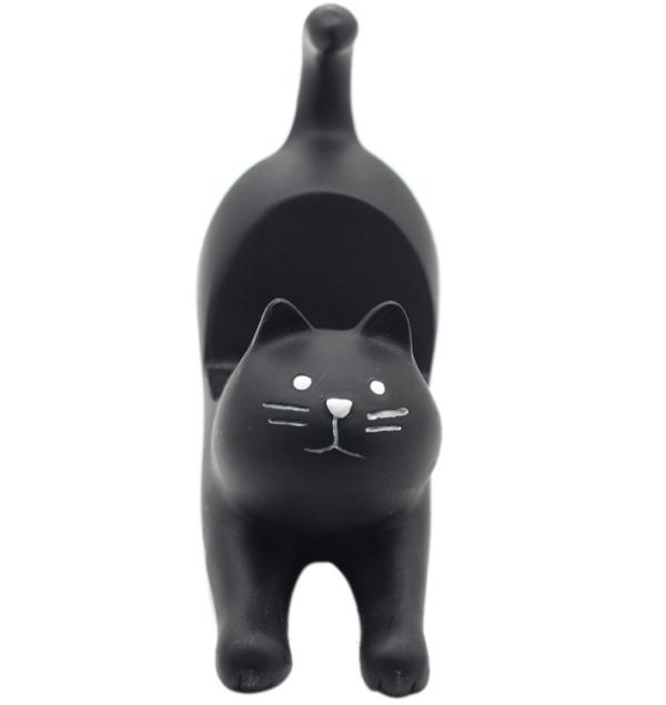 Katten Telefoonhouder bureau – Kattenbeeldje zwart