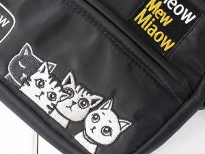 Mini Crossbody Tas met kattenprint