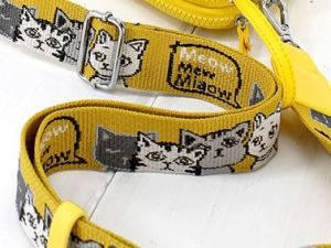 Nylon Crossbody Tas met Kattenprint