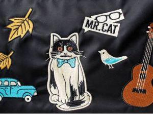 Envelop tas met kattenprint