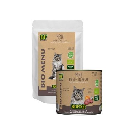 Verpakking Biofood Bio Kattenvoer Rund Menu