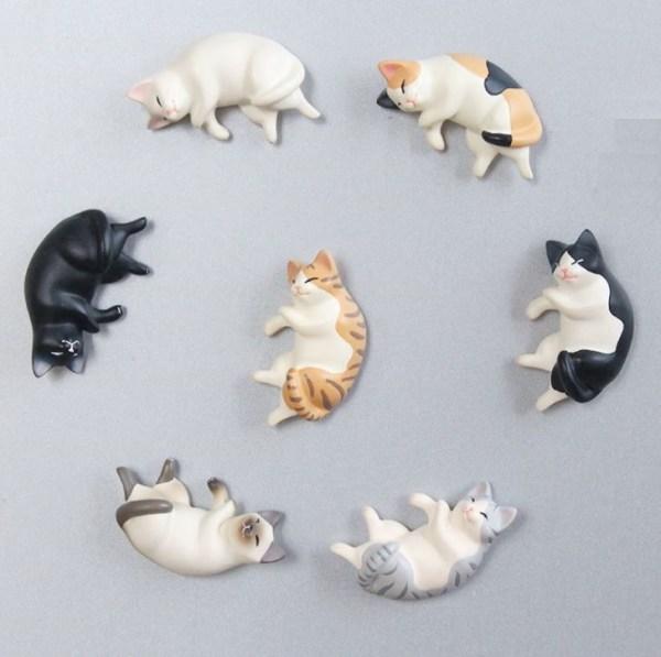 De verschillende Katten Koelkastmagneten zijn ook te gebruiken op whiteboards