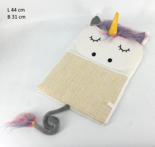 Sisal Krabmat voor Katten in de vorm van een eenhoorn