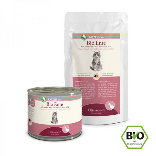 Herrmann's bio kattenvoer met 96% eend