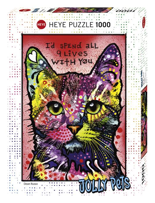Puzzel met Katten 1000 stukjes - Jolly Pets 9 levens