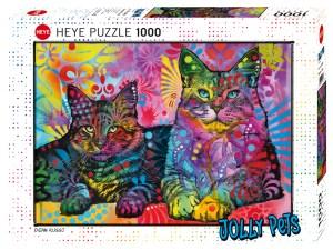 Puzzel met Katten 1000 stukjes - Jolly Pets 2 katten