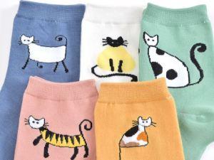 Katten Sokken Dames 5 Paar | Maat 35-40